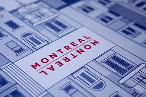 Print serigraphie sur la ville de Montreal / silkscreen print.