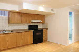 Renovated bright basement available immediately