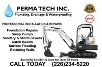 Wet Basement? Foundation Repairs & Sump Pumps 25 Year Warranty