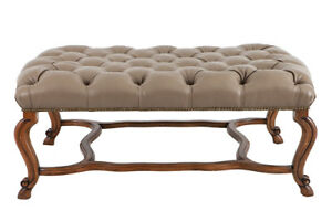 Regency, Louis XV French Provincial style ottoman