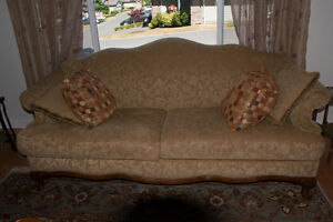 Camelback Settee and Loveseat