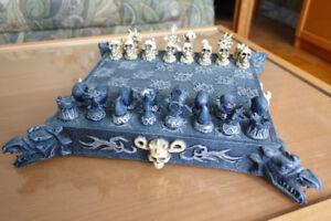 Jeu d'échecs gothique EXCELLENT ÉTAT