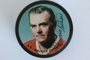 Maurice Richard signed puck