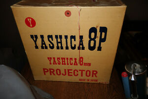Yashica Vintage 8mm Movie Projector In box & metal case