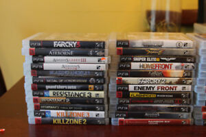 Playstation 3 Games, controllers and earpiece for sale