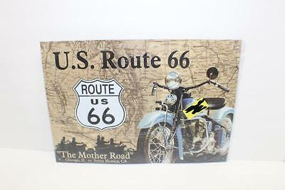 """11"""" x 16"""" US Route 66 The Mother Road Retro Tin Sign Wall Decoration Motorcycle"""