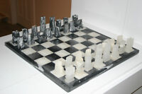 Marble or Onyx Hand Carved Mayan Aztec Chess Set