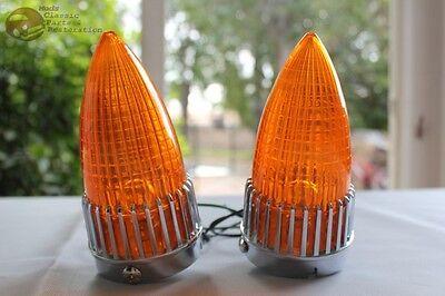 Custom Amber Tail Light Turn Signal Lamp Assemblies Hot Rat Rod Pickup Truck New