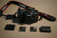 Canon 7D body extra batteries & 16GB CF - <10K clicks!