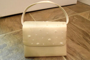 White Purse with Beading