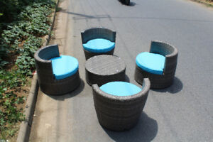 wicker oasis outdoor furniture sale going on now. all brand new!