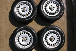 BMW E30 Alloy Wheels Bottlecaps with Michelin Tires