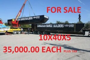 Brand new Sectional barges