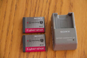 Sony Cyber-Shot Rechargeable Batteries and Charger