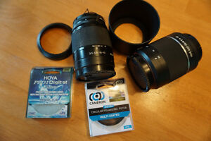 Lens, filters and case for Sony a300 DSLR camera