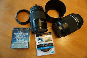 Lenses, filters and case for Sony a300 DSLR camera
