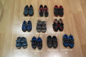 Chaussures (espadrilles, sandales, ...) pour garçon gr. 8 à 12