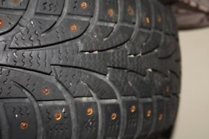 Studded Winter Tires - 185-60-R14 and 4 All Season on Rims