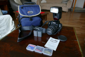 Canon Rebel XT 350D plus 18-55mm lens, CF Cards, and Flash
