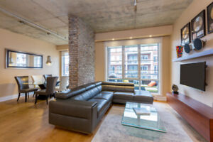 BRIGHT LUXURY LOFT - LACHINE CANAL(ATWATER MKT) FULLY FURNISHED