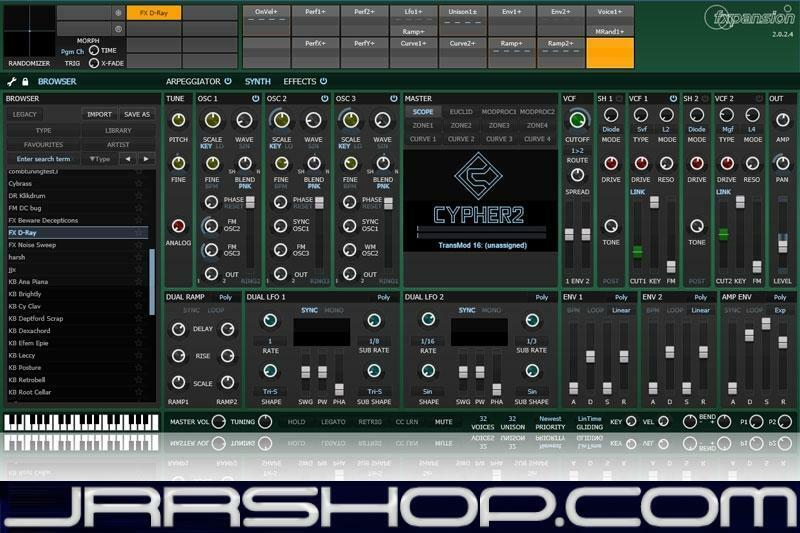 Fxpansion Cypher2 Analogue Modelled Expressive Synth Plugin eDelivery JRR Shop