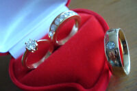 ENGAGEMENT / WEDDING / ANNIVERSARY DIAMOND RING SET 1.7 CARAT TW