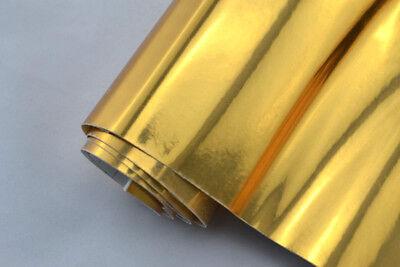 17€/m² CHROM FOLIE - GOLD - 30 x 152 cm flex Auto Klebe Folie selbstklebend