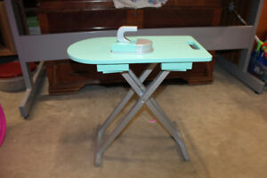 """Pretend Wooden Ironing Board/Iron (works best with 18"""" dolls)"""
