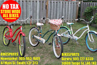 BIKESPORTS No Tax Electra, Specialized, Giant Comfort & Cruisers