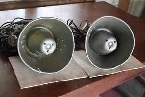 Vintage metal speakers