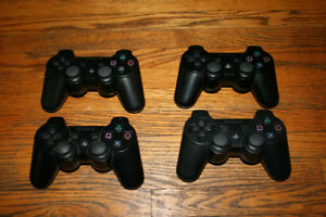 Black ps3 controllers
