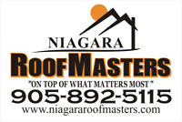 Need a Roof?  Niagara RoofMasters can help!