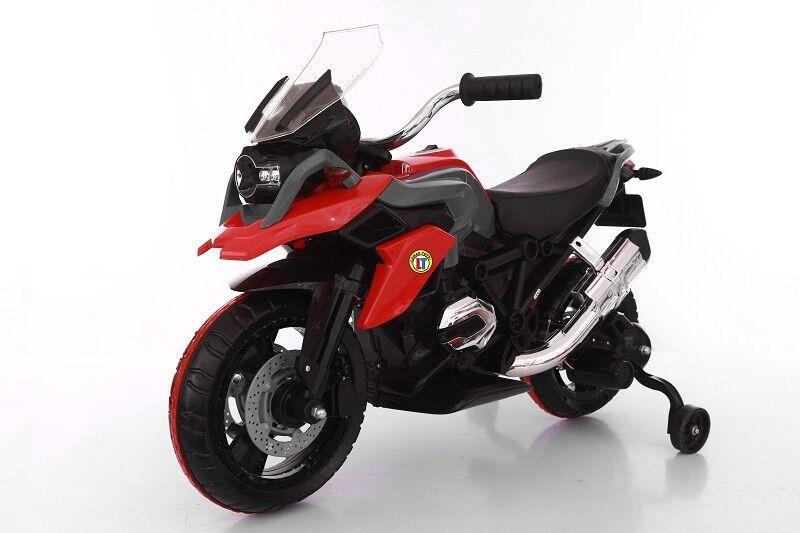 Moto Motocicletta Elettrica per Bambini  BMW GS MOTO Flower 12V ROSSO