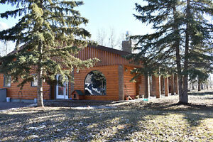 >NEW PRICE> LOG HOME ACREAGE B/T PEACE RIVER & FALHER FOR SALE