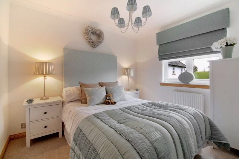 Laura Ashley Duckegg Bedroom Headboard Throw Lampshades And - Laura ashley bedroom
