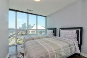 2 Bed 2 Bath Furnished Apartment Lower Simcoe & York Short Term