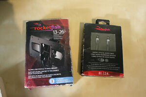 Rocket fish tv mount and digital optical cable