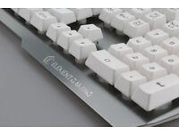 Element Gaming Palladium Keyboard in white aluminium brand new game keyboard