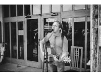 Professional acoustic singer and guitarist available for your wedding or event!