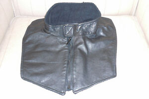 Leather motorcycle dickie