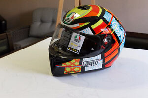 track suit, AGV helmet, Boots and Gloves