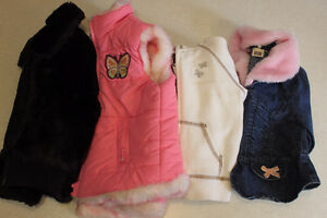 Four little Girl - Size 2 Dress Coats, vest and sweater.