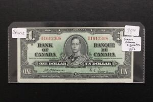 Canada 1937 $1 Bank Note