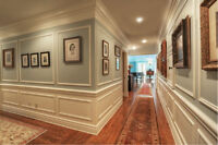 Crown Moulding Coffered Ceiling Wainscoting Baseboard