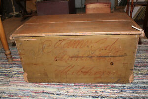 Old Blanket Box In Taupe Paint London Ontario image 4