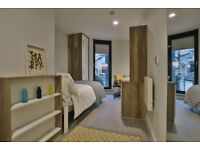 Modern Bronze Ensuite Bedroom in Private Student Accommodation