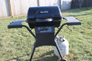 Nearly New Char broil propane BBQ with tank 26,500 BTU & Cover