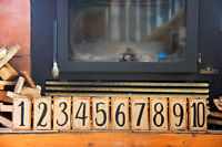Wooden Rustic Burlap Table Numbers
