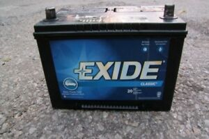 EXIDE CLASSIC TOP POST CAR/TRUCK BATTERY WORKS GREAT