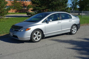 2007 Honda Civic 4dr  LX $5,500 only 102,700 kms!
